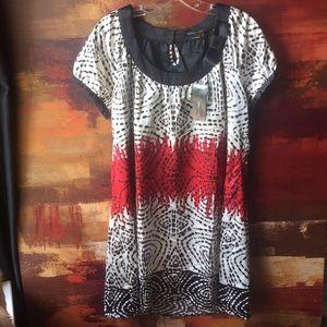 NWT BCBGMaxAzria, L Women's Shift, Print Dress